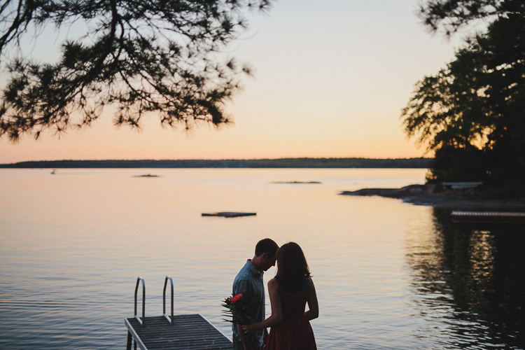 Sunrise Engagement at the Cottage