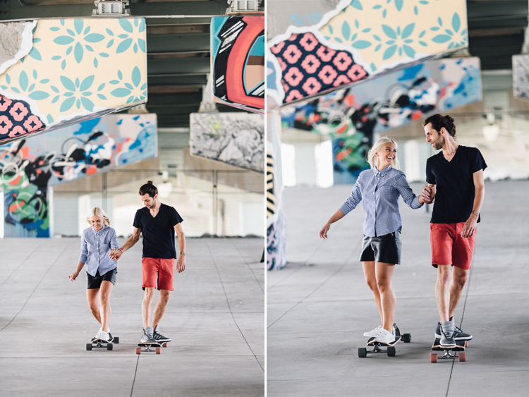 Skateboard Theme Engagement Shoot