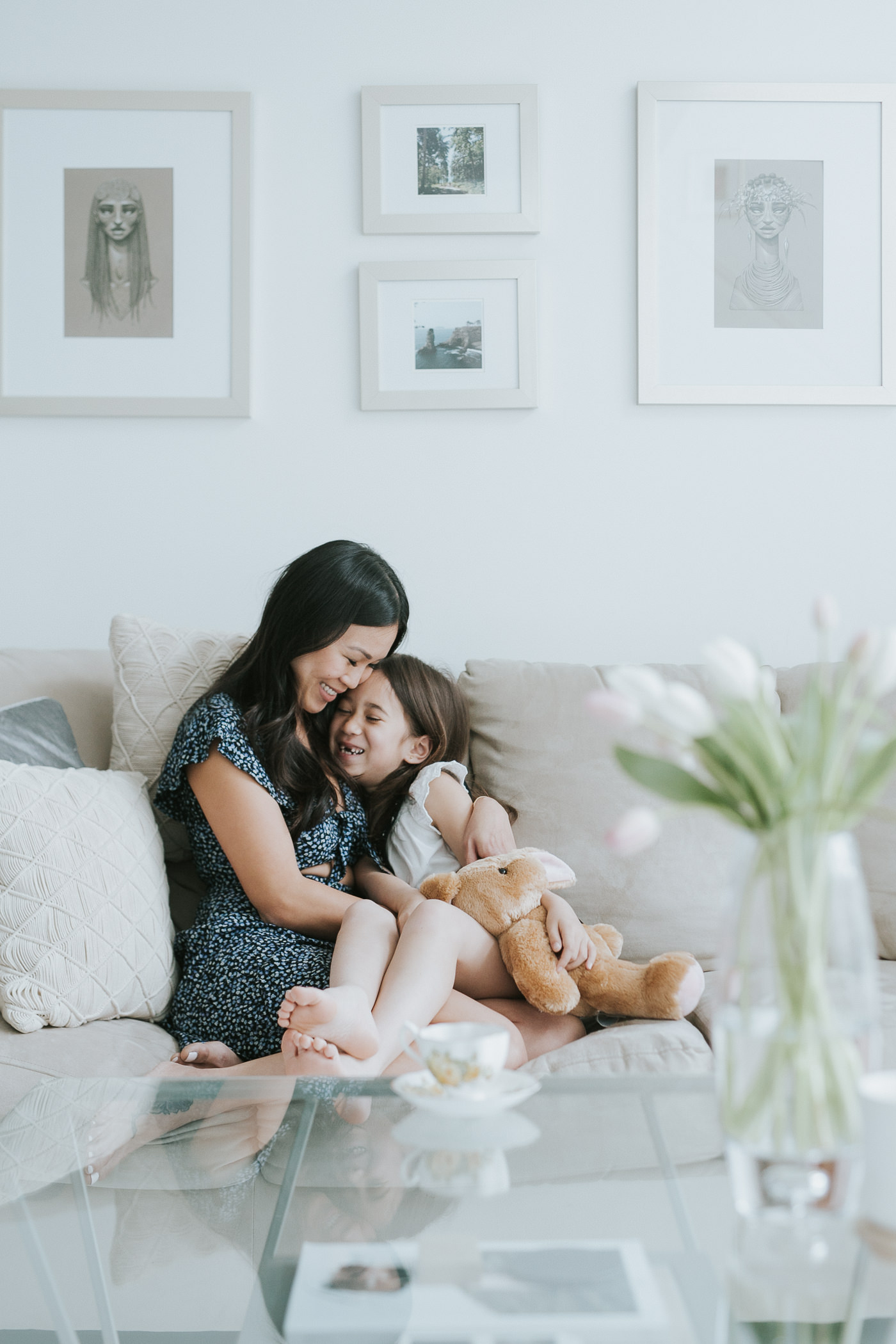 toronto loft family portrait with mother & daughter-3